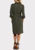 Plus Size Olive Utility Shirt Dress alternate view
