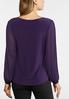Plus Size Purple Pleated Sleeve Top alternate view