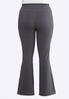 Plus Size Charcoal Yoga Pants alternate view