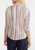 Plus Size Multi Stripe Linen Shirt alternate view