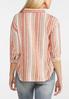 Plus Size Creamsicle Stripe Linen Shirt alternate view