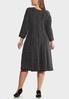 Plus Size Shimmery Fit And Flare Dress alternate view