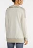 Plus Size Snap Cowl Neck Sweatshirt alternate view