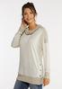 Plus Size Snap Cowl Neck Sweatshirt alt view