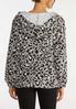 Plus Size Cozy Cheetah Zip Jacket alternate view