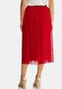 Plus Size Red Mesh Party Skirt alternate view