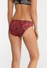 Plus Size Rose Print Panty Set alt view