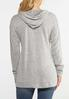 Plus Size Sequin Love Hooded Top alternate view