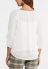 Plus Size Ivory Button Sleeve Top alternate view