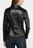 Black Faux Leather Moto Jacket alternate view