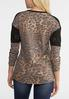 Plus Size Leopard And Lace Thermal Top alternate view