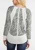 Plus Size Ivory Animal Thermal Top alternate view