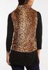 Plus Size Leopard Fur Vest alternate view