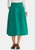 Plus Size Paper Bag Midi Skirt alternate view