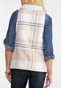 Plus Size Pink Plaid Reversible Vest alternate view