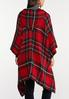 Hooded Red Plaid Poncho alternate view