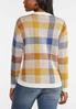 Plaid V- Neck Sweater alternate view