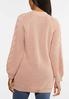 Plus Size Cable Knit Blush Cardigan alternate view