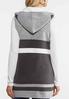 Plus Size Colorblock Hooded Vest alternate view