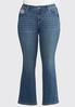 Plus Size Burst Of Bling Bootcut Jeans alternate view