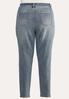 Plus Size Distressed Buttonfly Jeans alternate view
