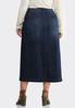 Plus Size Button Front Denim Skirt alternate view