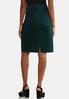 Plus Size Houndstooth Denim Skirt alternate view