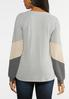 Plus Size Colorblock Waffle Top alternate view