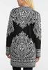 Plus Size Jacquard Cardigan Sweater alternate view