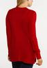Plus Size Bright Red Cardigan Sweater alternate view