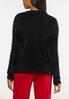 Fuzzy Black Cardigan Sweater alternate view