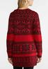 Plus Size Red Aztec Duster Cardigan alternate view