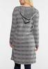 Plus Size Gray Stripe Cardigan Sweater alternate view