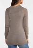 Plus Size Split Neck Button Sweater alternate view