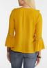 Gold Ruffled Bell Sleeve Top alternate view
