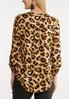 Plus Size Leopard Pullover Top alternate view