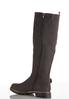 Faux Suede Lug Riding Boots alternate view