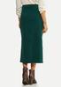 Plus Size Green Denim Skirt alternate view