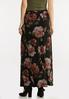 Plus Size Floral Ribbed Maxi Skirt alternate view