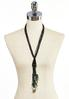 Shell Seed Bead Tassel Necklace alternate view