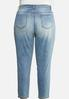 Plus Size High Rise Mom Jeans alternate view