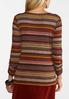 Plus Size Autumnal Stripe Ribbed Top alternate view