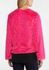 Hot Pink Faux Fur Jacket alternate view