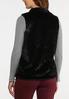 Plus Size Black Faux Fur Vest alternate view