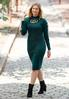 Plus Size Ladder Sleeve Sweater Dress alt view
