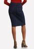 Plus Size Zip Front Denim Skirt alternate view