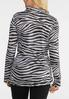 Plus Size Zebra Belted Shirt alternate view