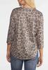 Plus Size Leopard Lace Up Shoulder Top alternate view