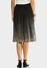 Plus Size Glitter Ombre Party Skirt alternate view