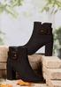 Tort Buckle Ankle Boots alt view